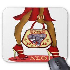 Delta mousepad - gift for her idea diy special unique