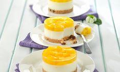 Mini tarta de yogur y melocotón