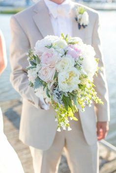 Charleston Weddings - Historic Rice Mill Building - Dana Cubbage Weddings - Ooh! Events - A Charleston Event - DeClare Cakes - Lowcountry Valet & Shuttle - Stuart Laurence Salon - Good Food Catering - Coastal Wedding - peony bouquet