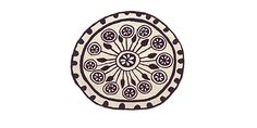 Cute small round rug... Collection Rangoli, Model Rangoli 1 Ø 125
