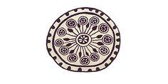 Cute small round rug... Collection Rangoli, Model Rangoli 1 Ø 125
