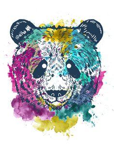Psychadelic Panda by Geo Law