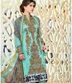 Karam Embroidered  Lawn Suits Collection 786_A