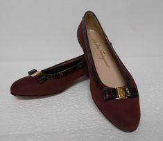 Salvatore Ferragamo Boutique Brown Flat Shoes Sz 6 M Slip Ons Suede 9209 Brown Flat Shoes, Oxford Flats, Salvatore Ferragamo, Slip On, Boutique, Accessories, Women, Fashion, Moda
