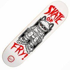 Roger Skateboards Roger Skate Or Fry Skateboard Deck 8.5'' - Roger Skateboards from Native Skate Store UK