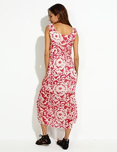 женская синий / красный круглый печати шифон пляж макси платье 1844714 2016 – p.718,18