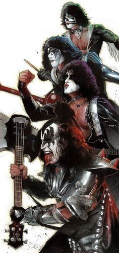 Awesome the Kiss art Kiss Band, Kiss Rock Bands, Rock And Roll, Pop Rock, Rock Posters, Band Posters, Rock Chic, Glam Rock, Iron Maiden