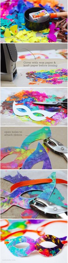 Crayon melted mask