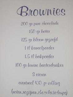 Sticker brownies Dutch Recipes, Sweet Recipes, Brownies, Cake Cookies, Cupcakes, Cold Appetizers, Gourmet Desserts, Sweet Pie, Food Journal