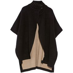 Theory Palomina reversible wool-blend cape