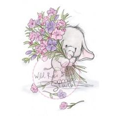 Wild Rose Studio Clear Stamp Set - Bella with Posy