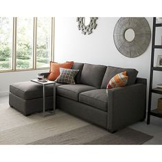 Davis 3-Seat Lounger in Sectional Sofas | Crate and Barrel, $2000 w/ down wrapping, 90 x 63
