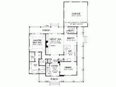 Craftsman House Plan with 2490 Square Feet and 4 Bedrooms from Dream Home Source | House Plan Code DHSW41890