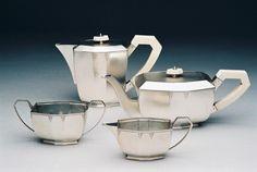 Art Deco   art deco tea service deco coffeepot deco teapot ivory handle