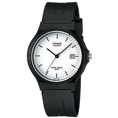 Casio Unisex MW597EV Black Resin Quartz Watch with White Dial -- More info could be found at the image url.Note:It is affiliate link to Amazon. #WomensWatches