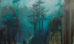 Alina Maksimenko Paintings, Art, Oil on canvas, Postimpressionism: The Fog