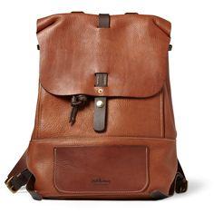 ee49774150 Bill Amberg Hunter Full-Grain Leather Backpack Leather Backpack For Men