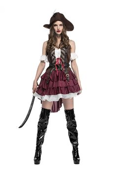 2017 Halloween costume for women Pirate uniform holiday cosplay clothing PSY1142 #Pirate Halloween Costumes For Women 2017 Halloween costume for women Pirate uniform holiday cosplay clothing PSY1142  Include:Top*1        skirt*1        hat *1        belt*1   ...