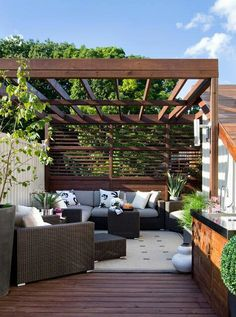 Love this deck and patio...relaxing and comfy....