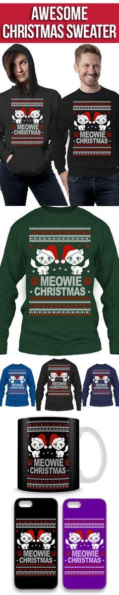 b9990ac554 Meowie Weihnachtsstrickjacke! Klicken Sie auf das Bild, um es jetzt zu  kaufen, oder