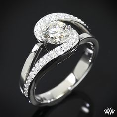 Shes the Yin to his Yang    Dazzling with A CUT ABOVE® Hearts and Arrows Diamond Melee