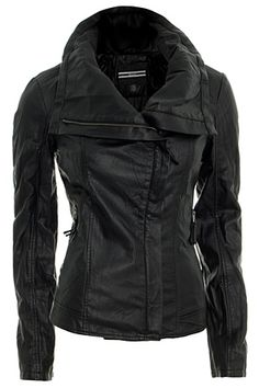 Black Leather Jacket... love this!