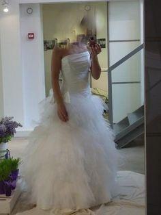 Robe de mariage Cymbeline Fauvette d'occasion avec jupon et housse