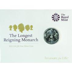 20 Pfund Silber Am längsten regierende Monarchin UN