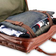 Bleu de Chauffe, leather business bag. Sac business Report. Made ...
