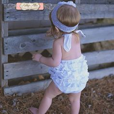 White Eyelet Sunsuit, Baby Girl Sunsuit Romper, Ruffle Romper, Toddler Girl, Beach Pictures, Beach Outfit by AddysAtticOnEtsy on Etsy https://www.etsy.com/listing/178497829/white-eyelet-sunsuit-baby-girl-sunsuit