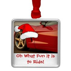 Christmas Red Corvette Gifts Ornaments