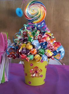 candy theme party centerpieces
