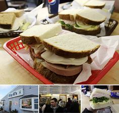 Big G's. Winslow, Maine...my favorite sandwich shop, make sure you are hungry. Gerry of Big G's is my mother's cousin's son.