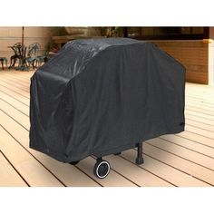 """Durable Barbeque Gas Propane Grill Cover Black Large 64"""" Length"""