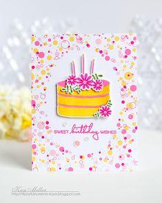 funny greeting ink cake watercolour sweet Blank cute Biscuits EllaJayneartcards Happy Birthday Card ellajayneart children