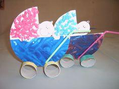 DIY a Baby in a Stroller....from Toilet Paper Rolls, Cardstock and Drinking Straws! •|• DIY Knutsel een Baby in een Kinderwagen met WC rolletjes, Wit Karton en Drinkrietjes! Wheeeee