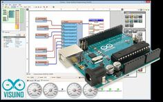 Program Arduino boards visually, fast and easy with Visuino software Micro Computer, Computer Technology, Computer Repair, Computer Science, Diy Electronics, Electronics Projects, Arduino Programming, Arduino Sensors, Linux