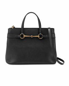6da6cbe5403f Bright Bit Medium Leather Tote Bag, Black by Gucci at Neiman Marcus. Pink  Gucci