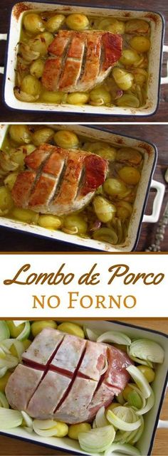Pork tenderloin in the oven - - Lombinho de porco no forno - - Potted Meat Recipe, Meat Loaf Recipe Easy, Easy Meat Recipes, Oven Recipes, Cooking Recipes, Pork Tenderloin Oven, Pork Tenderloins, Chicken And Cabbage, Food C
