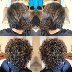 Image Result For Stacked Spiral Perm On Short Hair Short Permed Hair Permed Hairstyles Spiral Perm