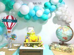 Organic Balloon Decoration🎈🎈🎈Temática  viaje por el mundo 73b60c79902