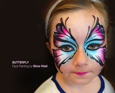 BUTTERFLY Face Painting by Silvia Vitali