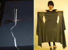 """Olha que fácil – e que linda! a scarf que a blogger Trang Huyen ensina a fazer no site StyleList (clique no link para ver o """"how to""""). Chequem também as várias produções possíveis! Vamos fazer? Depois tirem fotos e mandem pra gente!!!!!"""