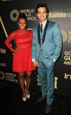 Michael Steger & Brandee Tucker attend the Miss Golden Globe Awards
