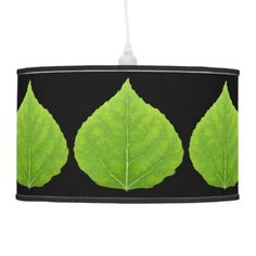 Green Aspen Leaf #11 Ceiling Lamp - spring gifts beautiful diy spring time new year