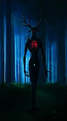 O So freaky. Maybe an alternate version of a Wendigo? Monster Art, Fantasy Monster, Creepy Monster, Shadow Monster, Arte Horror, Horror Art, Dark Fantasy Art, Dark Art, Creepy Art