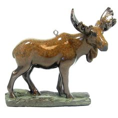 Marsh King Stonecast Moose Ornament