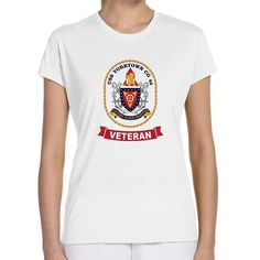 USS Yorktown Veteran Ladies White T-Shirt now available! Show your Navy Service pride with this ladies white t-shirt Performance Short Sleeve Shirt. This performance shirt features 100% Polyester antimicrobial, moisture wicking fabric that will keep you cool, dry, and comfortable. THIS IS A PERFORMANCE FABRIC SHIRT, NOT COTTON. Designed, Printed & Sublimated in the USA -Fabric Imported.