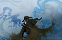 Dampiel and the Three Sisters by DarkSunRose.deviantart.com on @DeviantArt