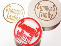 personalized name stamp. custom made shop name by talktothesun